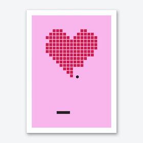Crack Up Pink Art Print