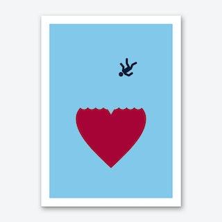 Ever Fallen In Love Blue Art Print