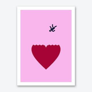 Ever Fallen In Love Pink Art Print
