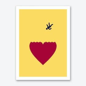 Ever Fallen In Love Yellow Art Print