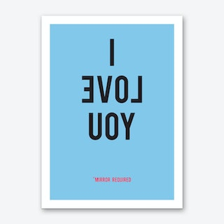 I Love You Blue Art Print