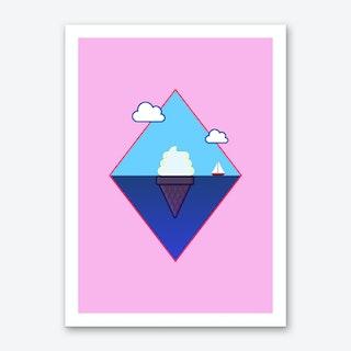 Ice Cream Berg Art Print
