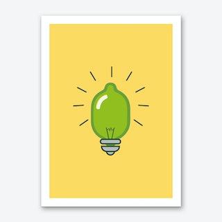 Lime Light Art Print I