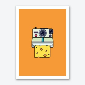 Say Cheese Orange Art Print