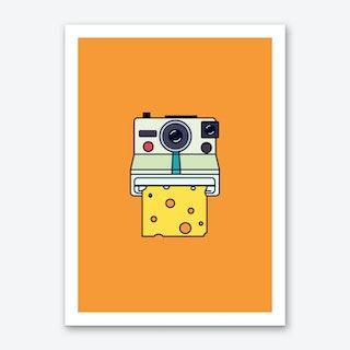 Say Cheese Orange Art Print