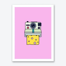 Say Cheese Pink Art Print