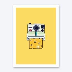 Say Cheese Yellow Art Print