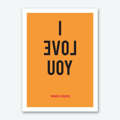I Love You Orange Art Print