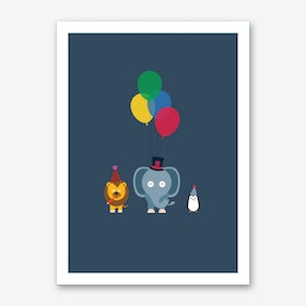 Party Animals Dark Art Print