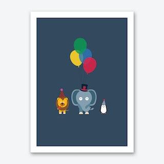 Party Animals Dark Art Print