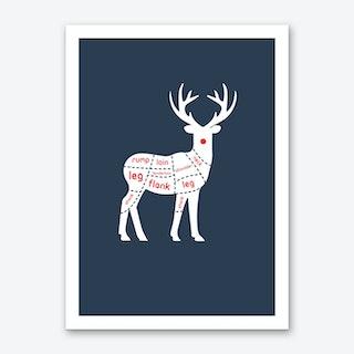 Reindeer Meat Art Print