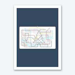 Christmas Tube Art Print