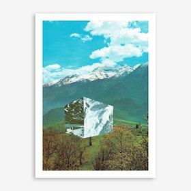 Mountain Cube Art Print