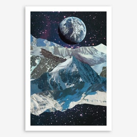 Mountainous Galaxies Art Print
