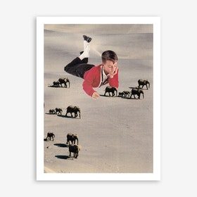 Tiny Elephants Art Print