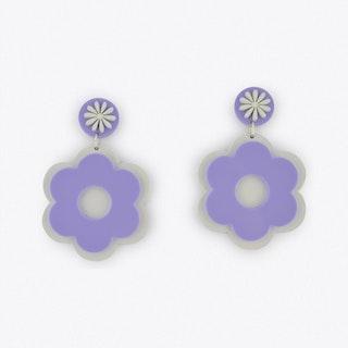 Flower Power Earrings in Lilac