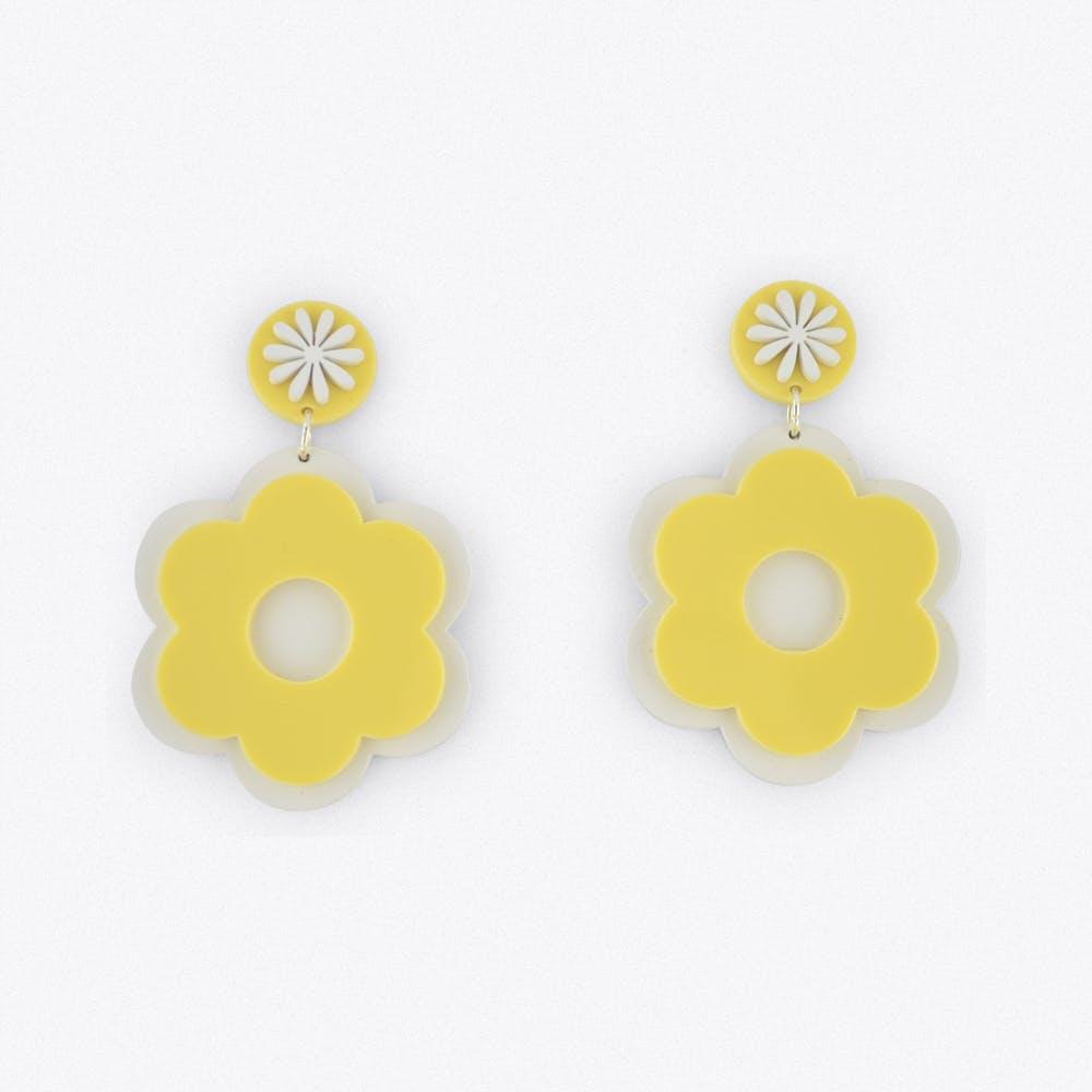 Floer Power Earrings in Yellow