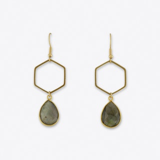 Labradorit Hexagon Earring