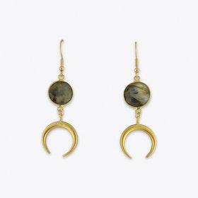 Boho Moon Labradorit Earrings