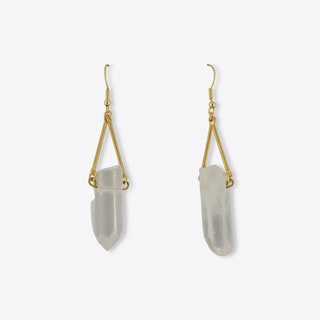 Quartz Nugget Earrings