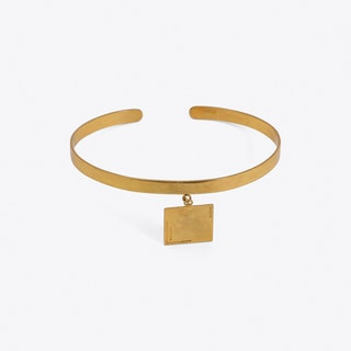 Square Pendant Armband in Gold