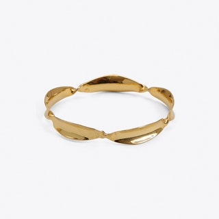 Wound Bangle in Gold