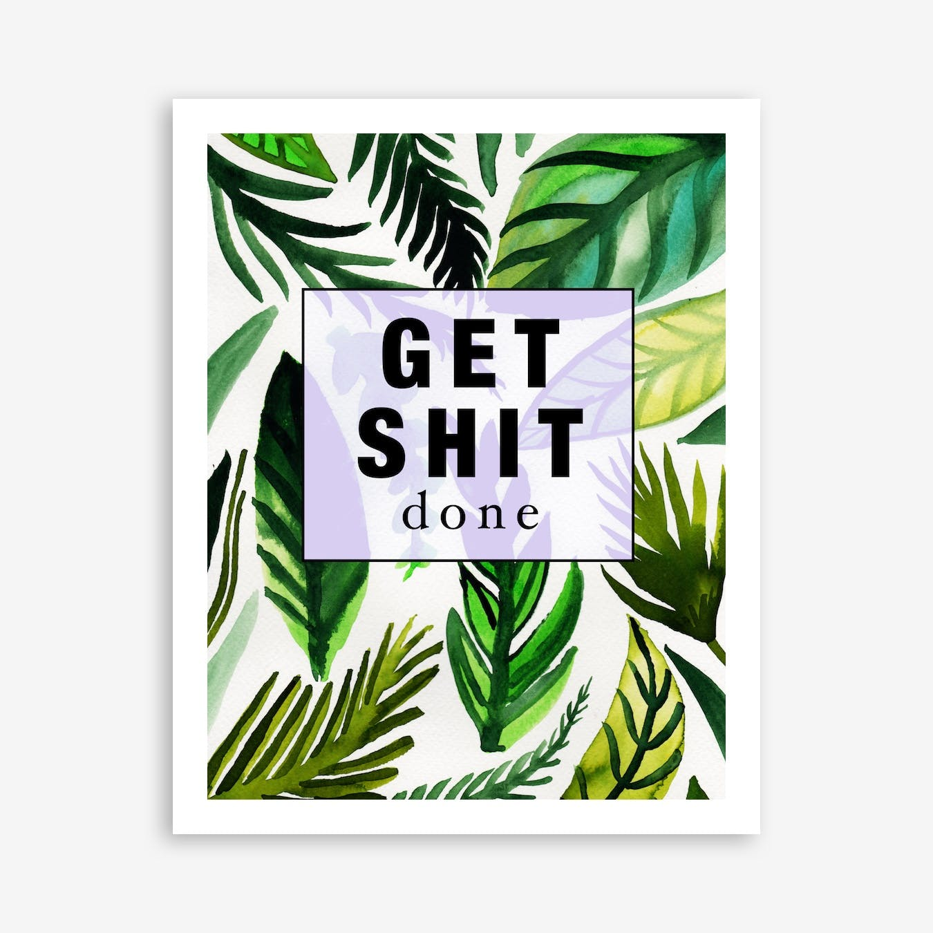 Get Shit Done Cushion Print