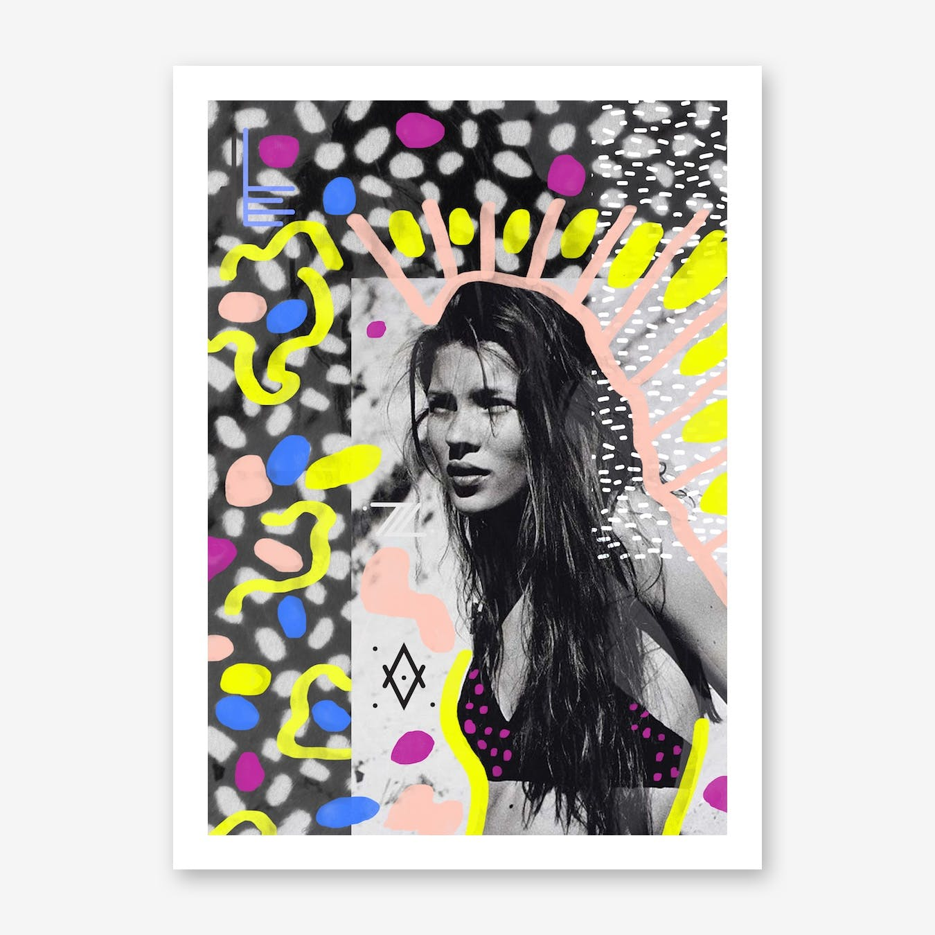 Kate Moss Collage Print