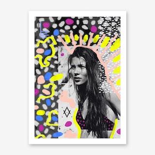 Kate Moss Collage Art Print