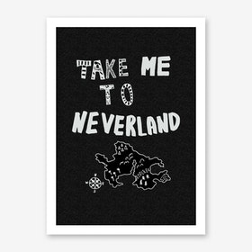 Take Me to Neverland Black White