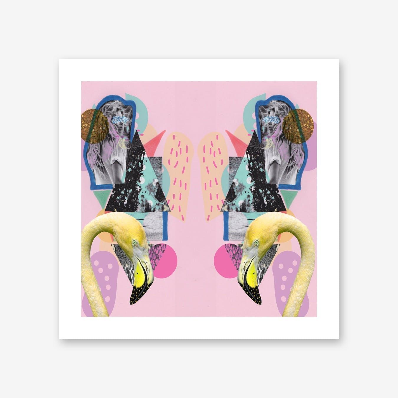Flamingo Art Mirrored