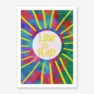 Love Is Rad Art Print