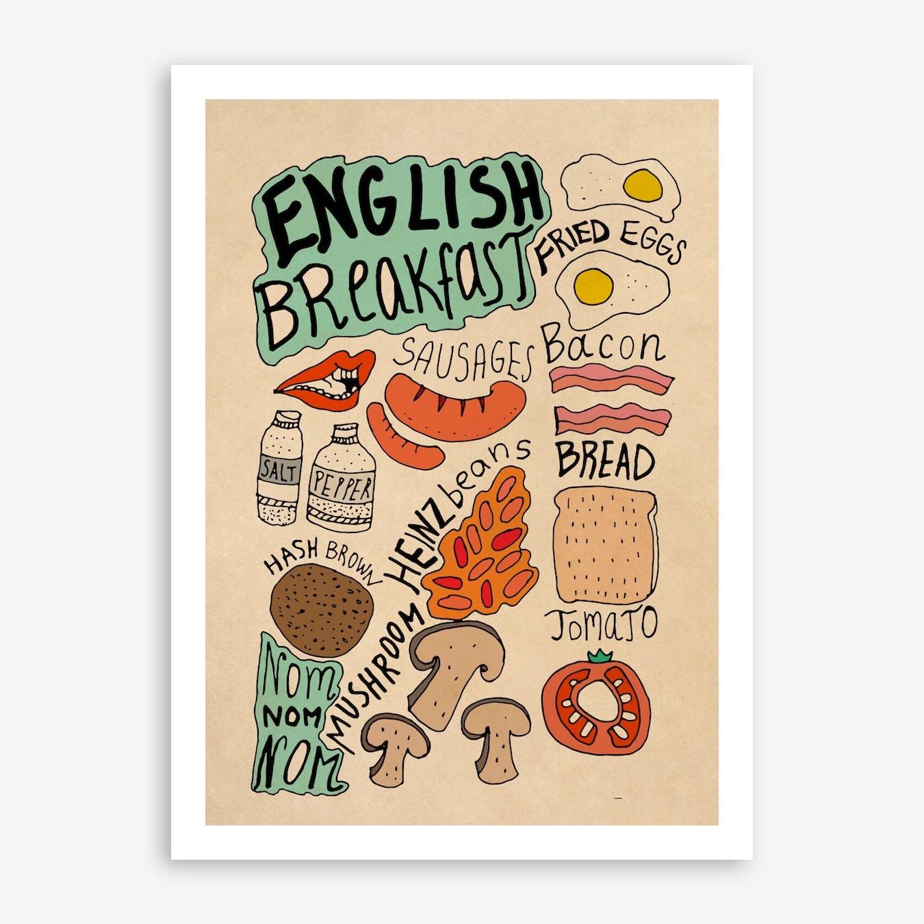 English Breakfast 2 Print