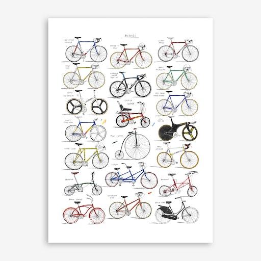 Bicycles Print