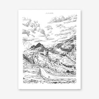 Col Du Glandon Art Print