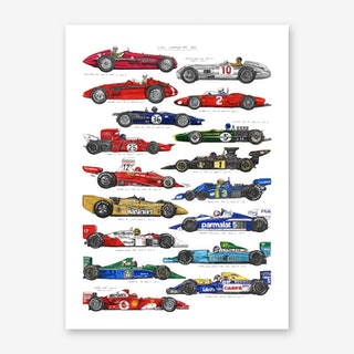 F1 Cars Art Print
