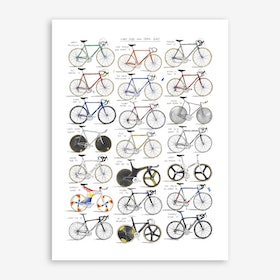 Iconic Road And Track Bikes Art Print