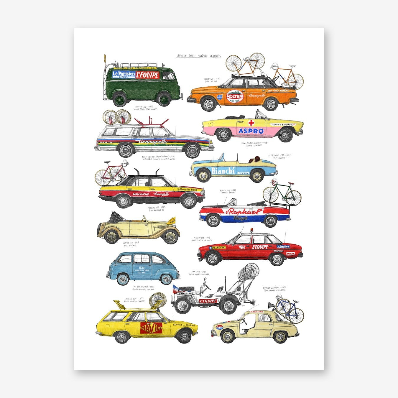 Race Support Vehicles Print