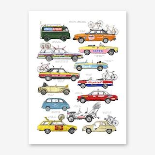 Race Support Vehicles Art Print