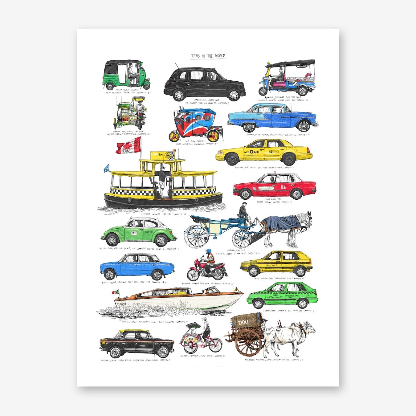 Taxis Print