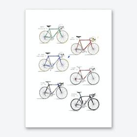 Italian Bicycles Art Print