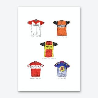 Cycling Jersey Classics Art Print