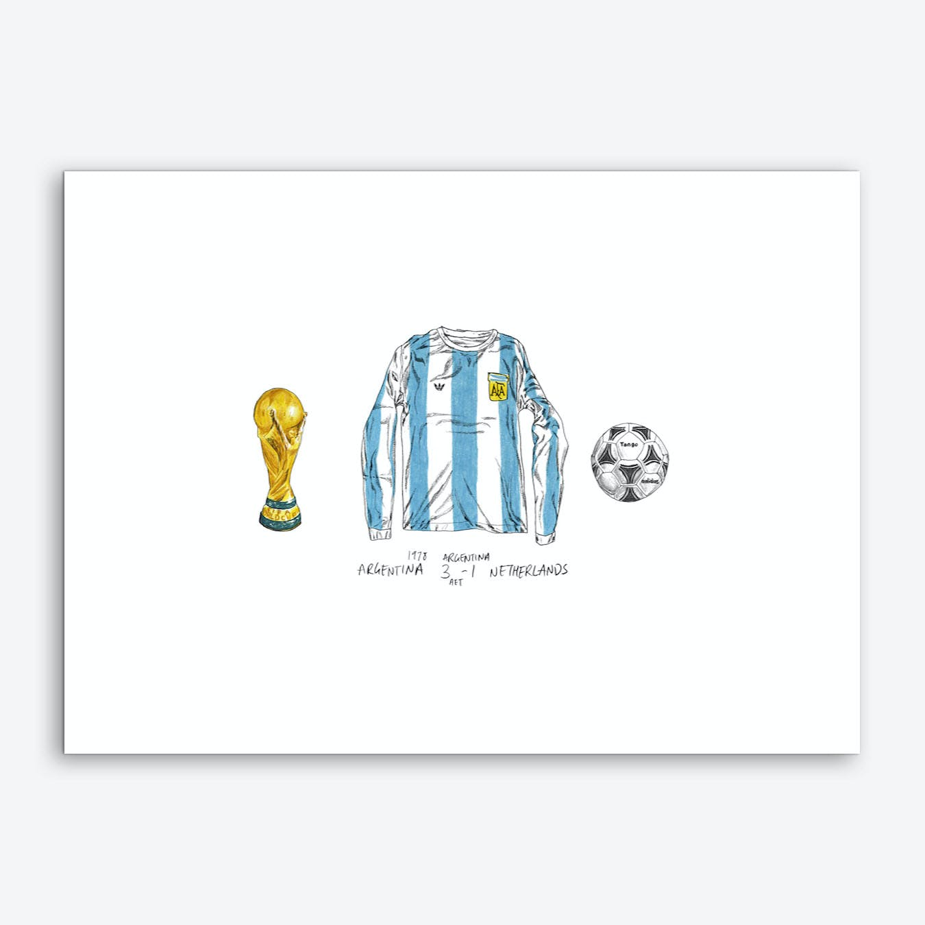 Argentina World Cup 1978 Art Print