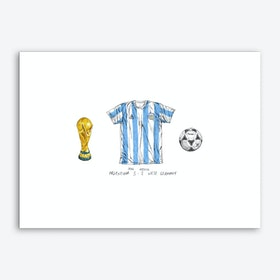 Argentina World Cup 1986 Art Print