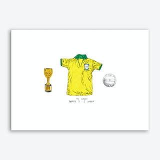 Brazil World Cup 1958 Art Print