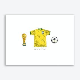Brazil World Cup 1970 Art Print