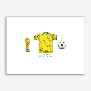 Brazil World Cup 1970 Art Print