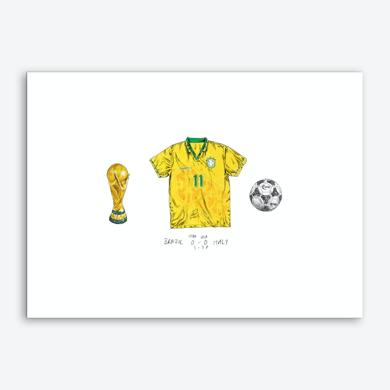 Brazil World Cup 1994 Art Print