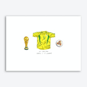 Brazil World Cup 2002 Art Print