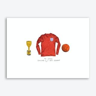 England World Cup 1966 Art Print